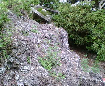 グスクを囲む岩