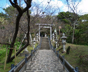 名護城跡公園の階段