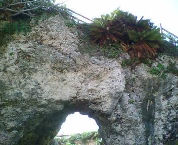 グスクがあったという巨岩