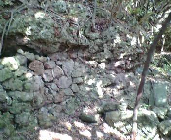 階段周辺の古墓