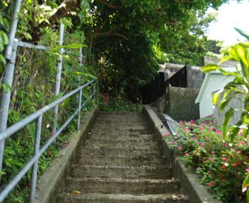 グスク北側階段