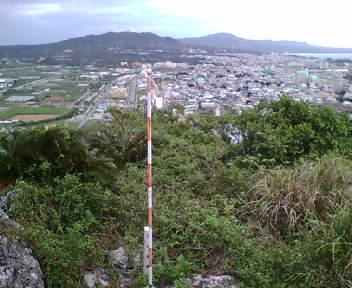 崖に面した地点からの眺め