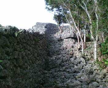 城壁の内側