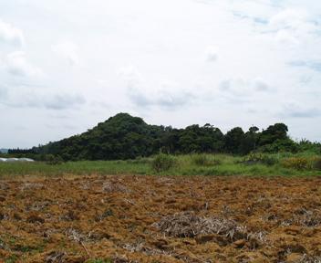グスクがある丘の遠景