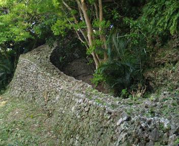 外郭東側城壁。