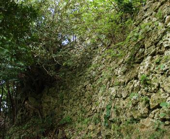 外郭から見た城壁