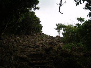 主郭へ向かう石段