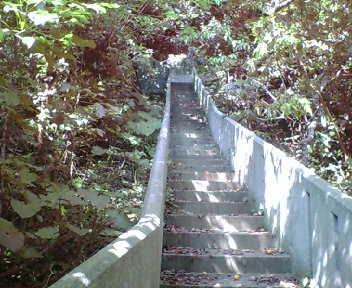 護佐丸の墓への上り道